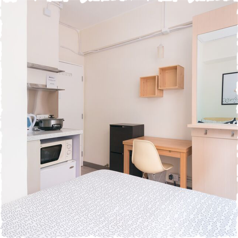 serviced apartment with studio open kitchen
