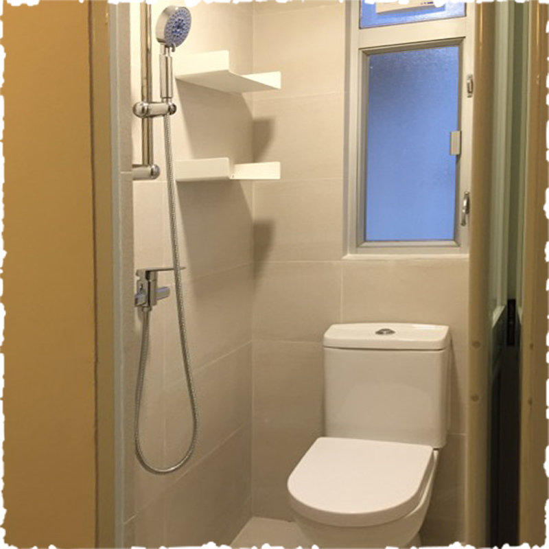 serviced apartment toilet and shower room